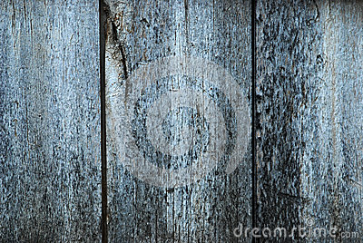 Old blue  painted wood background