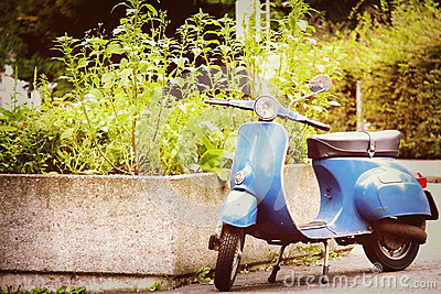 Old Blue Scooter