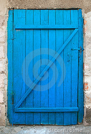 Free Old Blue Wood Door Royalty Free Stock Photography - 16516777