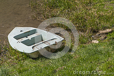 Old boat in cane stock photo image 39341209 for Stocked fishing ponds near me