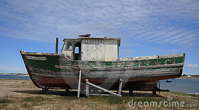 Old Boat at Flower s Cove Editorial Image