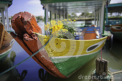 An old boat in hoi-an,vietnam