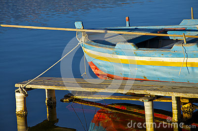 Old boat on the Lake