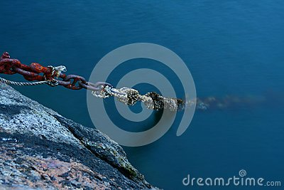Old boat rusted chains