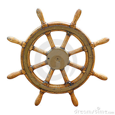 Free Old Boat Steering Wheel Royalty Free Stock Images - 10868309