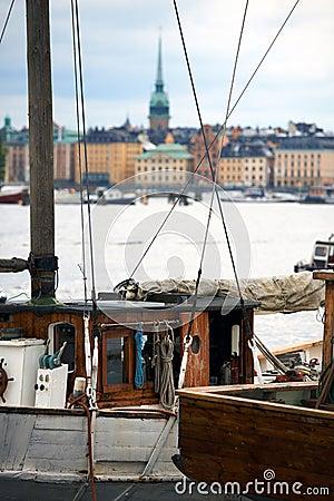 Old boat in Stockholm