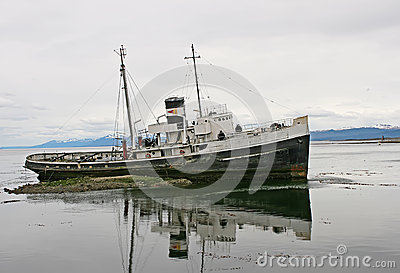 Old boat from Ushuaia,