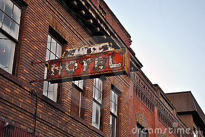 Old Boise Hotel Sign Royalty Free Stock Photo Image