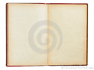 Old Book With Empty Pages Isolated Royalty Free Stock Image - Image: 23063816