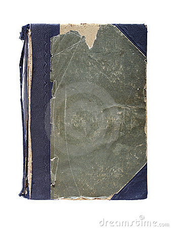 Old book with frayed cloth hardcover