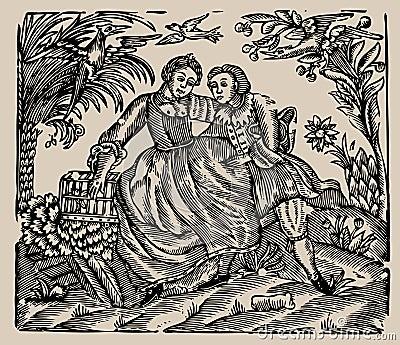 Old book illustration