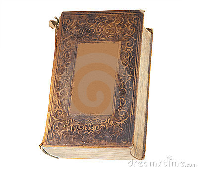 Old book, isolated