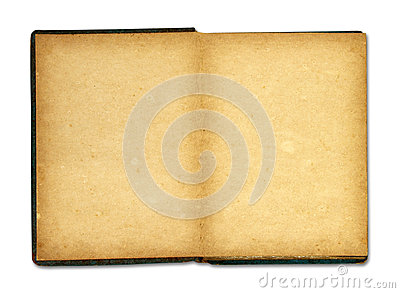 Old book isolated on white background
