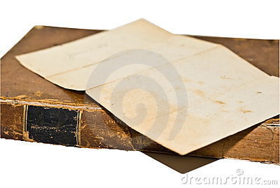 Old Book with Paper