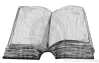 Old book sketch