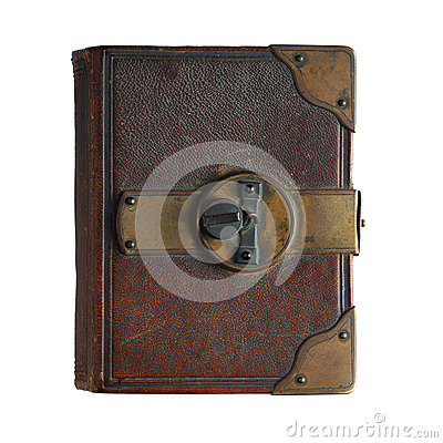 Free Old Book  With Lock Isolated On White Stock Images - 74412964