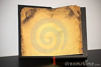 Old book with yellowed paper