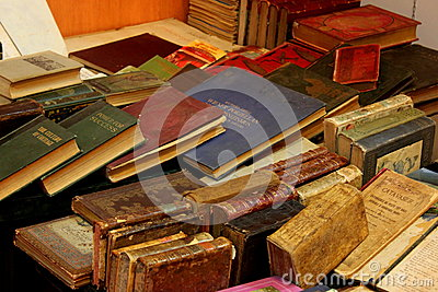 Old books Editorial Photo