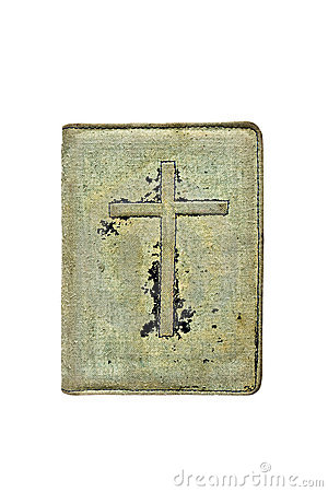 Free Old Books Cover On It A Crucifix Stock Photography - 20824562