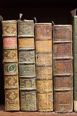 Free Old Books On The Shelf Stock Image - 9610501