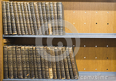 Royalty free stock photos old books on shelf