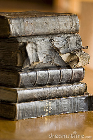 Old books stack