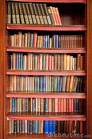 Free Old Bookshelf In Ancient Library Royalty Free Stock Photo - 18242725