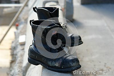 Old boots made in the USA