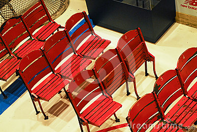 Old Boston Garden chairs Editorial Stock Image