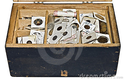 Old Box and Coins
