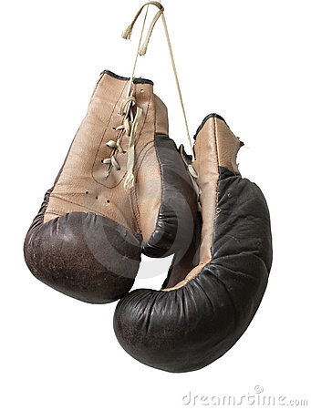 Free Old Boxing Gloves Royalty Free Stock Photos - 12749808