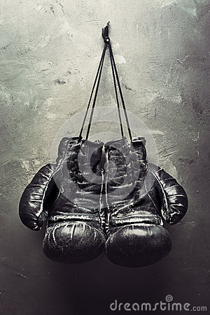 Free Old Boxing Gloves Hang On Nail Royalty Free Stock Photo - 29634685