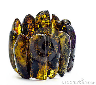 Old bracelet of Baltic amber