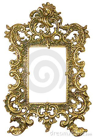 brass frame on floorboards stock image image 19322311