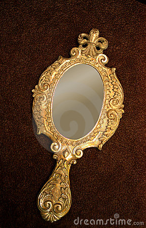 Antique Hand Mirror Drawing Throughout Ornate Hand Mirror Drawing Antique Brass Hand Mirror Stock Photography