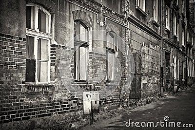 Old brick architecture in Grudziadz