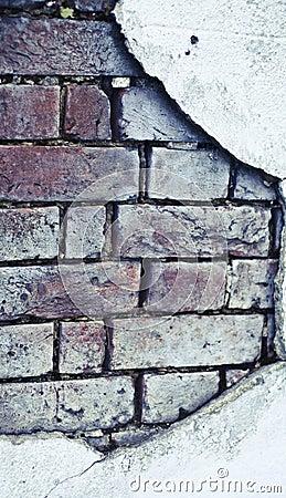 Old brick broken  wall
