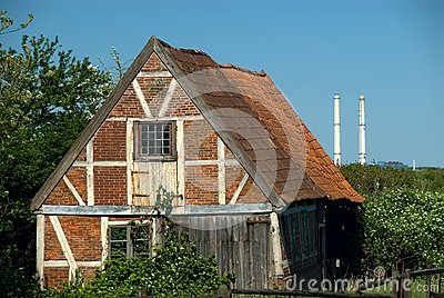 Old brick shed and Industry