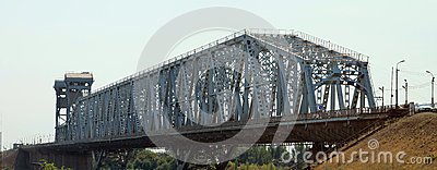 The old bridge in Astrakhan Editorial Image