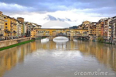 The Old bridge in Florence, Italy Editorial Stock Photo