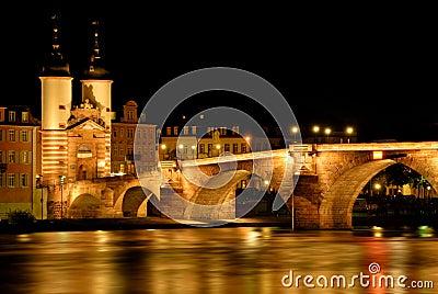 The The Old Bridge in Heidelberg, Germany