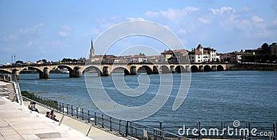 Old bridge of Lyon Editorial Photography