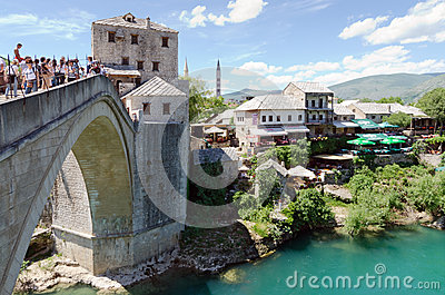 Old Bridge, Mostar Editorial Photo