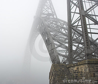 An old bridge of Oporto