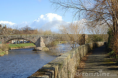 Old bridge over the river Esk in Musselburgh