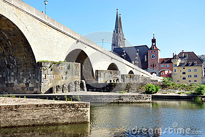 Old Bridge in Regensburg, Germany