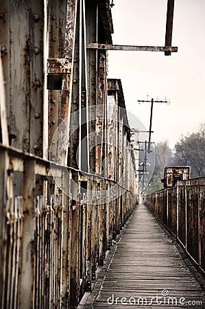 Old bridge on the river