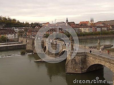 Old Bridge in Wuerzburg