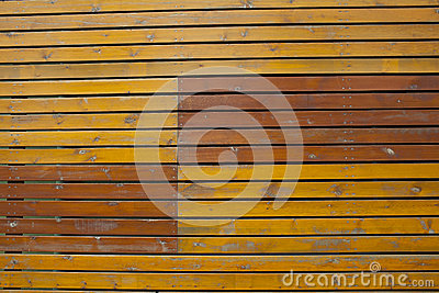 Old bright yellow wooden plank wall background