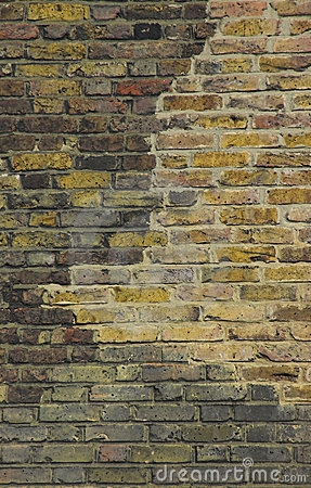 Old british brick wall